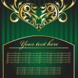Green vector hearts - Vettoriali Stock