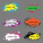 Grunge stylish banners — Stock Vector