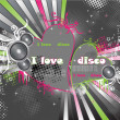 Royalty-Free Stock Imagem Vetorial: Heart disco