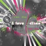 Heart disco — Stock Vector