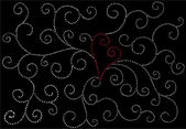 Vector valentine background with heart — Vector de stock
