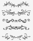 5 sad ozdobných ornamentů — Stock vektor