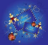 ブルー ・ クリスマスの背景、ベクトル イラスト — ストックベクタ
