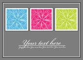Decorative greeting card — Stock Vector
