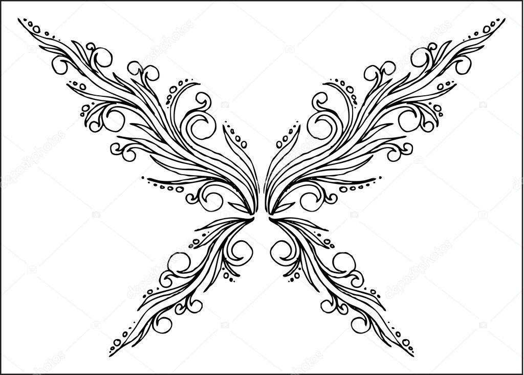 Abstract Butterfly Coloring Pages : Abstract butterfly — stock vector anasteisha