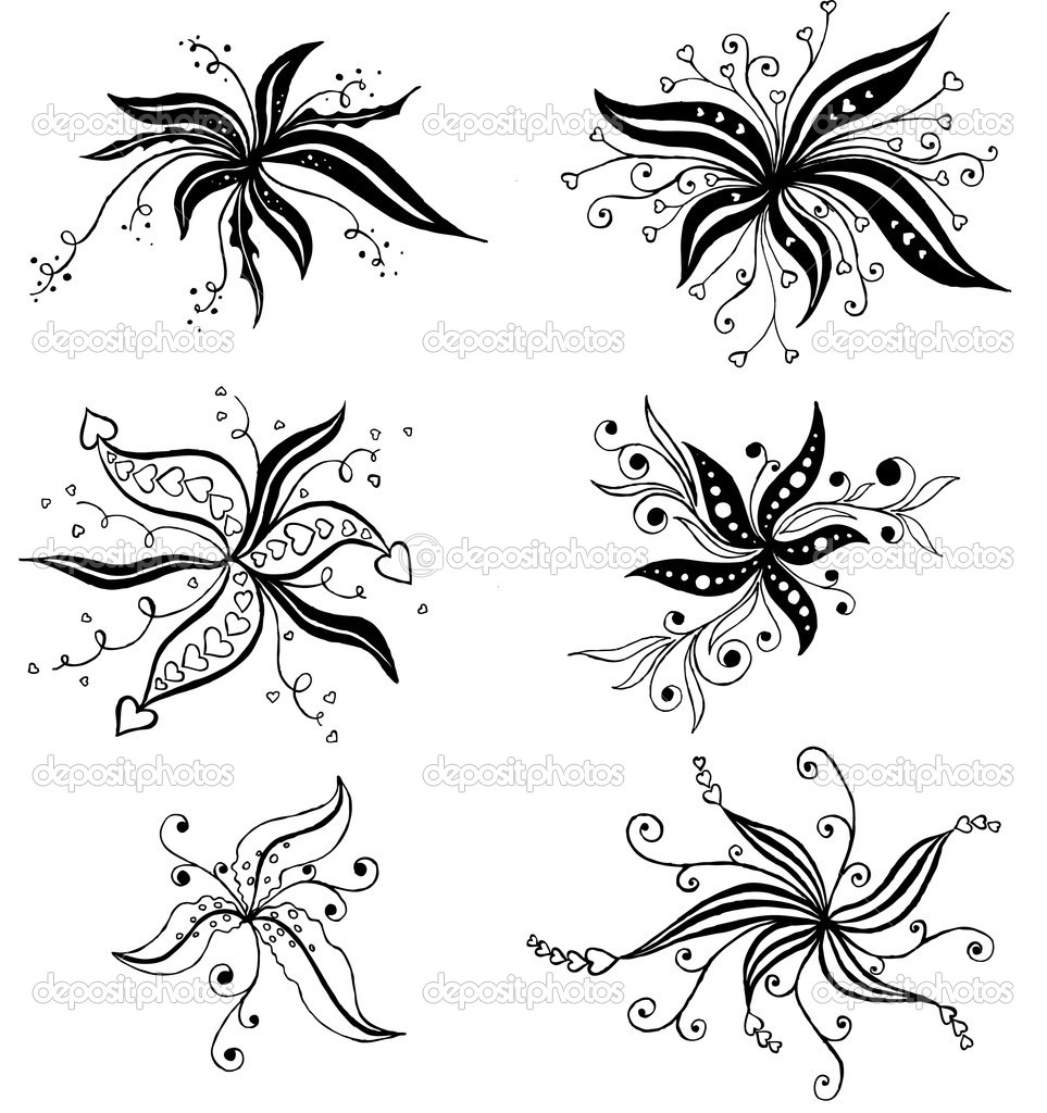 vector ornament In flower style — Stock Vector #1277533