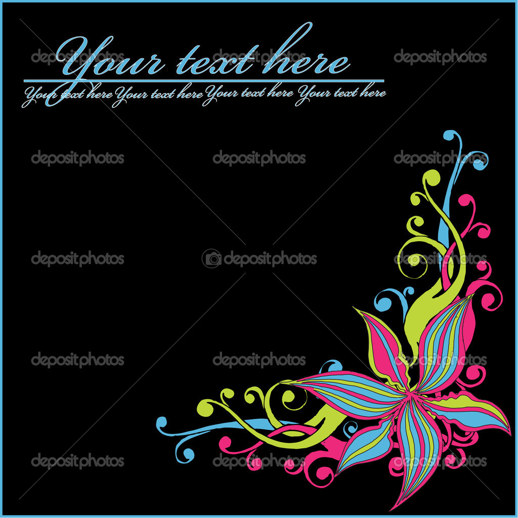 Abstract floral background   — Stock Vector #1277781