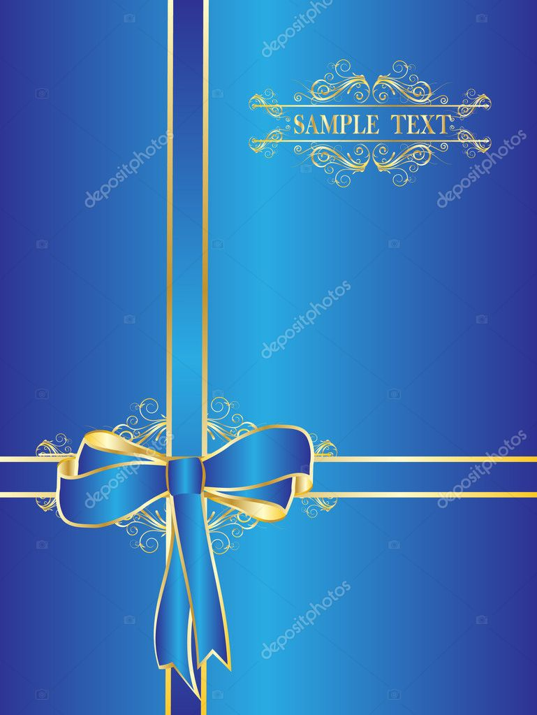 Dark blue bow for gifts — Stock Vector #1278679