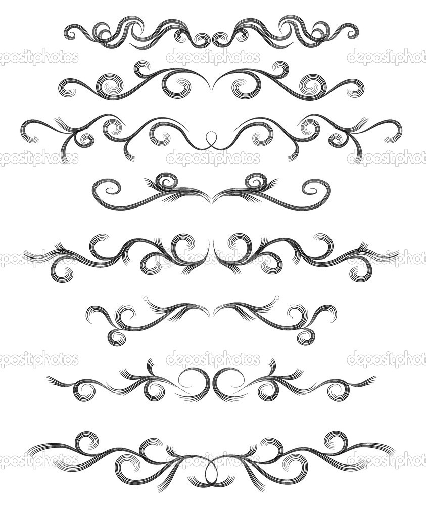 Vector set of lines for design — Stock Vector #1278681