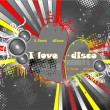 Royalty-Free Stock Vector Image: Red Heart disco
