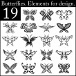 Set of butterflies — Image vectorielle