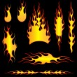 Stock Vector: Set of fires