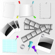 Royalty-Free Stock Immagine Vettoriale: Set of paper accessories