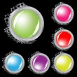 Set of vector buttons with stars — Stock Vector