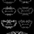 Set Vector scroll frames. Elements can b - Stock Vector
