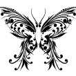 The abstract butterfly — Vector de stock