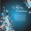 Vector blue Christmas banner — Stock Vector