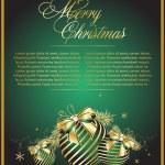 vector groene kerstballen — Stockvector