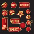 Vetorial Stock : Vector set of tags