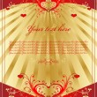 Royalty-Free Stock Vector Image: Vintage gold heart