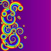Arco iris resumen — Vector de stock