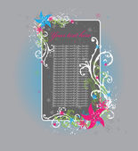 Romantická kompozice s kvítky — Stock vektor