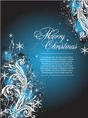 Vector blue Christmas banner — Stock Vector