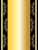 Vector gold wallpaper — Stock Vector