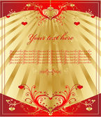 Corazón de oro vintage — Vector de stock