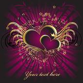 Violet hearts — Stock Vector