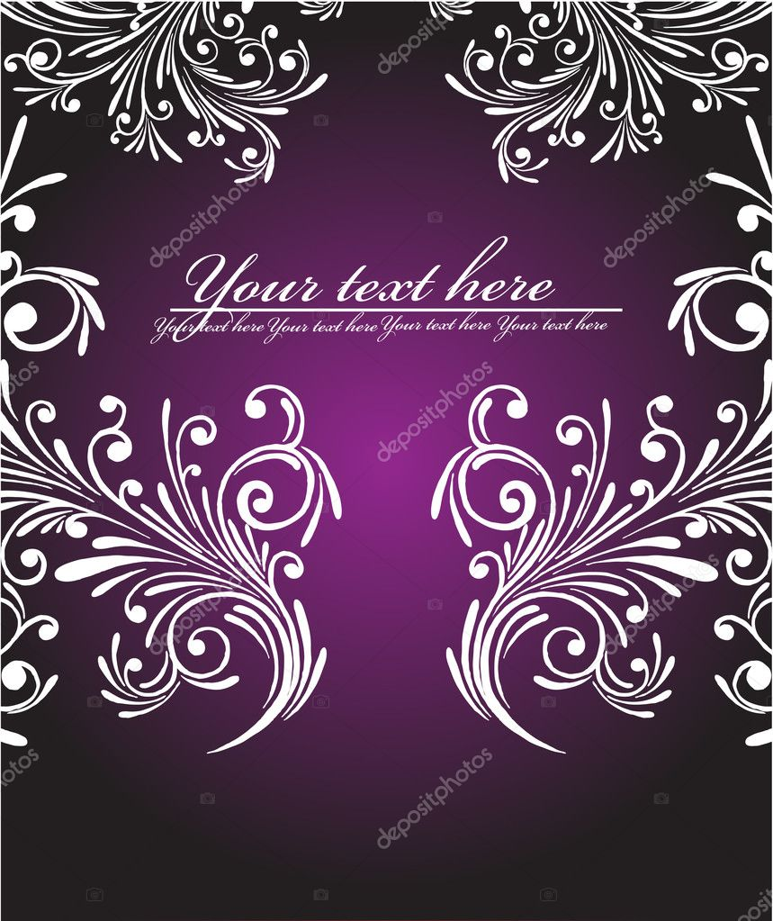 Ornate frame  Stock Vector #1280118