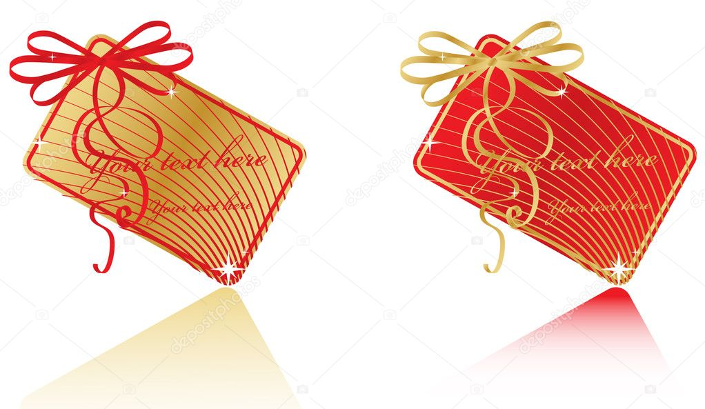 Vector gift tag — Stock Vector #1281359