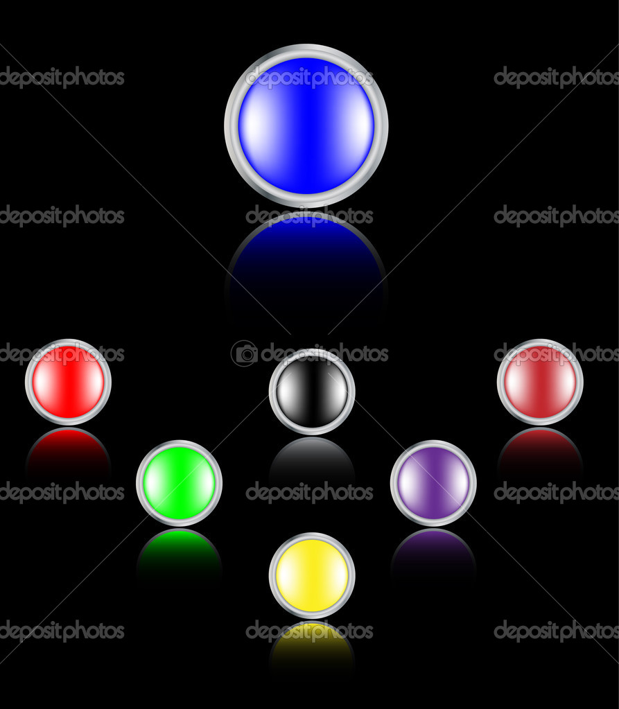 Vector glossy buttons.  Stock Vector #1281366