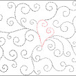 Vector valentine background with heart — Imagen vectorial