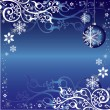Blue and White Christmas Themed Pattern — Stock Vector