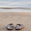 Shoes on sand — Stock Photo #2336623