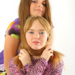 Stock Photo: Two young and wonderful models