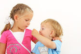 Two small children — Stock Photo