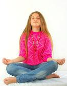 Yoga lotus position — Stock Photo