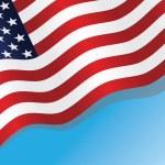 Флаг США — Cтоковый вектор