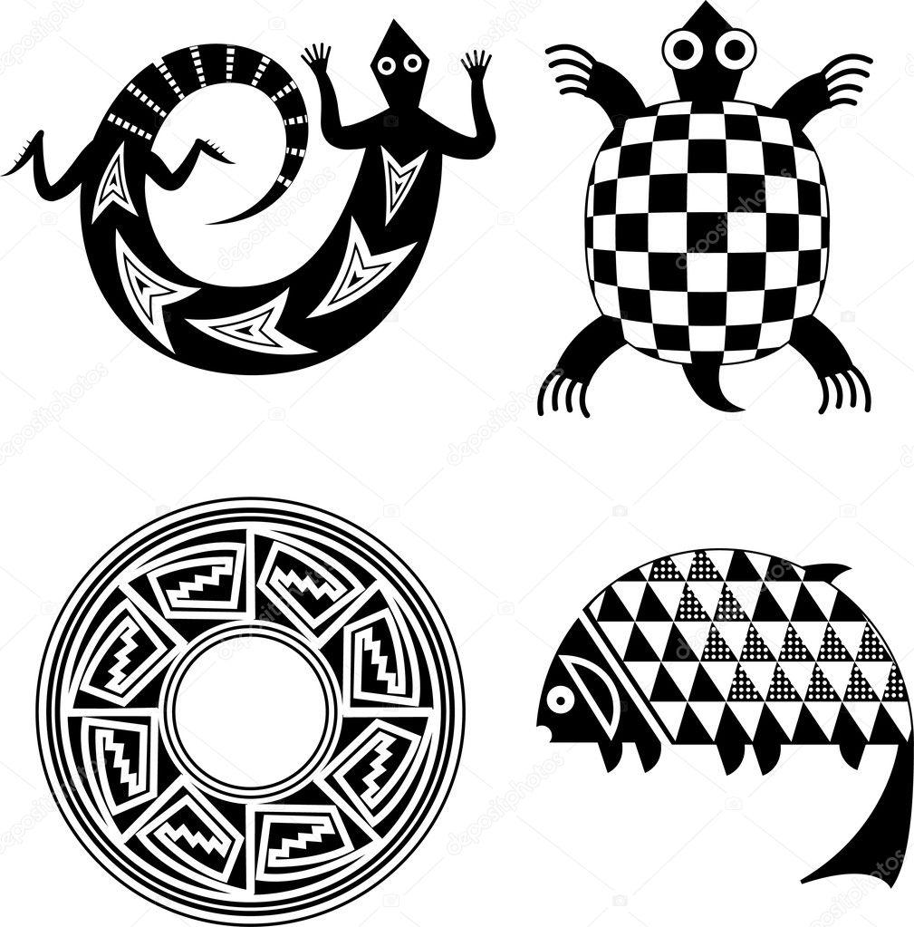 Motifs indiens dam rique du nord image vectorielle for American indian design and decoration