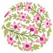 India floral ornament — Stock Vector