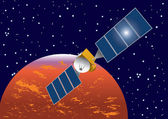 Mission on the mars — Stock Vector