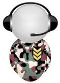 Military headphone sign — Stock Photo