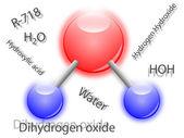 Water molecule — Stock Vector