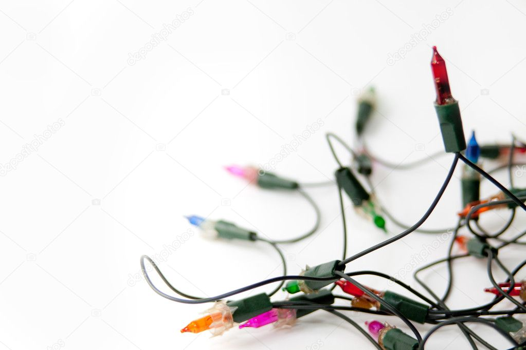 White Christmas Background Christmas Lights on a White