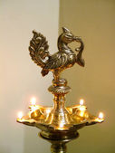 Temple Oil Lamp — Stock Photo