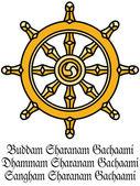 Buddha's Dharma Wheel — Stock Photo
