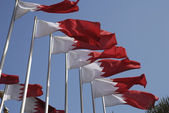 Bahrain National Flags — Stock Photo