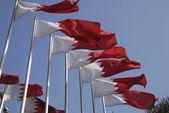 Bahrain National Flags — Stock Photo